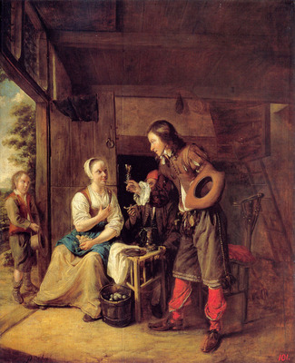 A Man Offering A Glass of Wine to a Woman