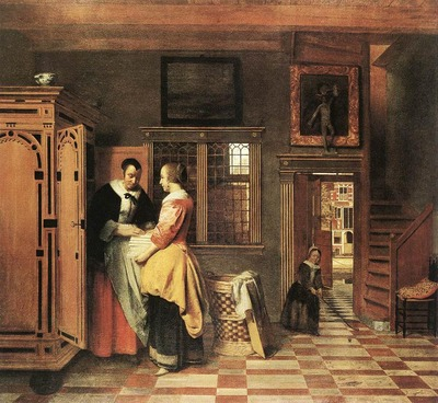HOOCH Pieter de At the Linen Closet