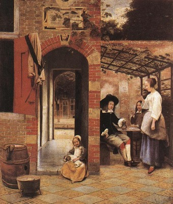 HOOCH Pieter de Drinkers in the Bower