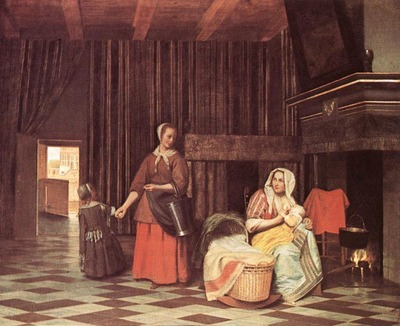 HOOCH Pieter de Suckling Mother and Maid