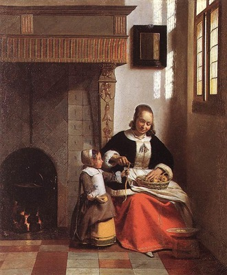 HOOCH Pieter de Woman Peeling Apples