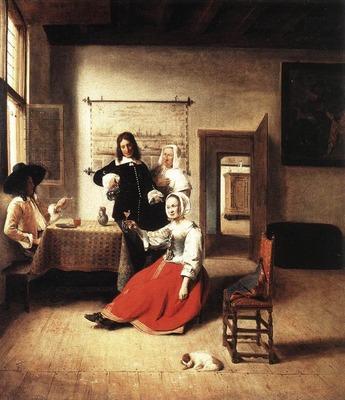 HOOCH Pieter de Young Woman Drinking