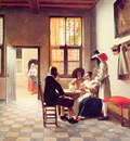 Card Players in a Sunlit Room