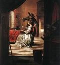 HOOCH Pieter de Couple with Parrot