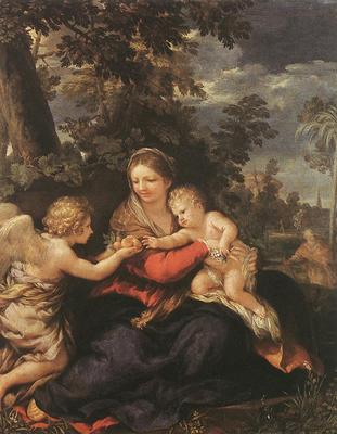 PIETRO DA CORTONA Holy Family Resting On The Flight To Egypt