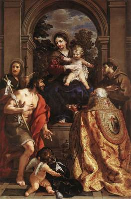 PIETRO DA CORTONA Madonna And Saints