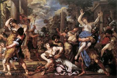 PIETRO DA CORTONA The Rape Of The Sibine Women