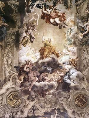 PIETRO DA CORTONA The Triumph Of Divine Providence detail