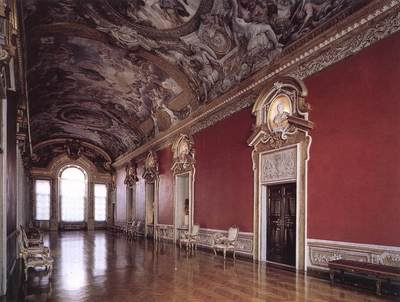 PIETRO DA CORTONA View Of The galleria Pamphili