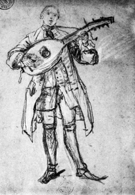LONGHI Pietro Lute Player