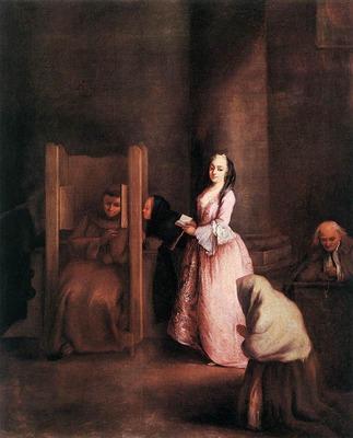 LONGHI Pietro The Confession