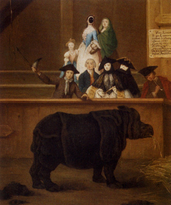 Longhi Pietro The Rhinoceros