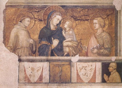 LORENZETTI Pietro Madonna With St Francis And St John The Evangelist