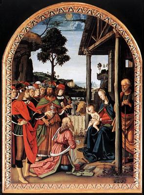Perugino Pietro Adoration of the Kings Epiphany c1476