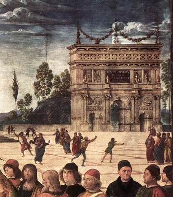 Perugino Pietro Baptism of Christ c1482 detail3