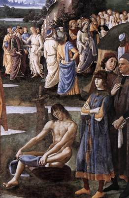 Perugino Pietro Baptism of Christ c1483 detail2