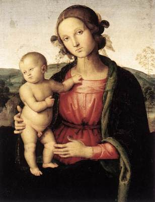 Perugino Pietro Madonna and Child Borghese