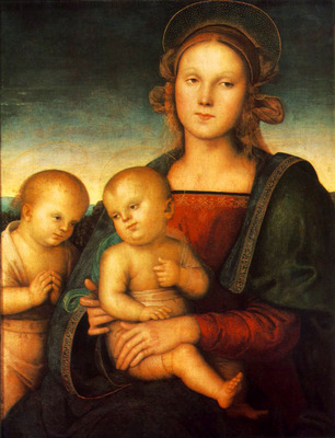 perugino pietro madonna with child and little st john