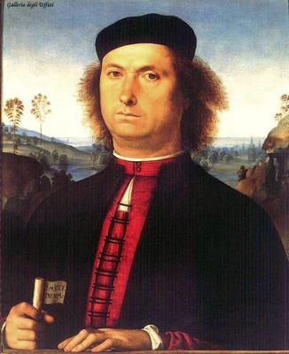 perugino pietro portrait of francesco delle opere