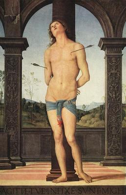 Perugino Pietro St Sebastian Louvre