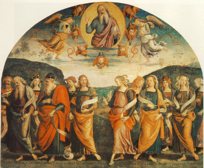 perugino pietro the almighty with prophets and sybils