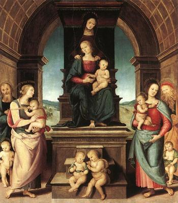 perugino pietro the family of the madonna 1500
