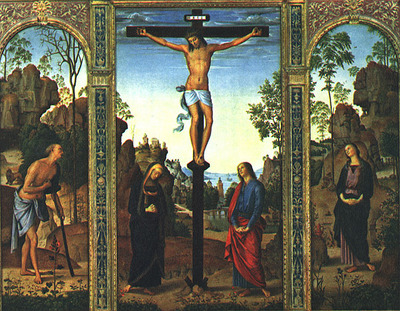 perugino pietro the galitzin triptych