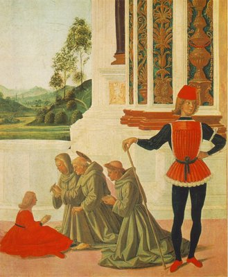 Perugino Pietro The Miracles of San Bernardino The Healing of a Mute 1473 detail1