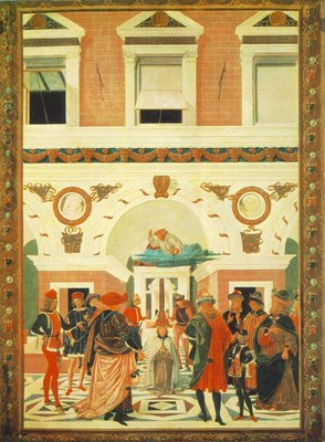 perugino pietro the miracles of san bernardino the healing of a mute