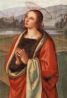 Perugino Pietro The Pazzi Crucifixion detail2