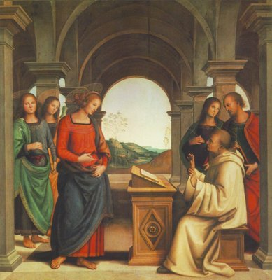 perugino pietro the vision of st  bernard