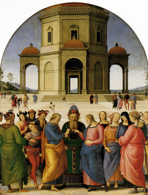Perugino The Betrothal of the Virgin