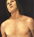 perugino pietro bust of st  sebastian 1493