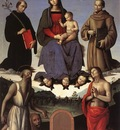 perugino pietro madonna and child with four saints tezi altarpiece