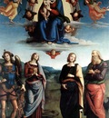 perugino pietro madonna in glory with the child and saints 1595