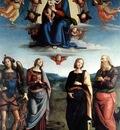 perugino pietro madonna in glory with the child and saints 1595