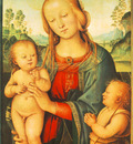 perugino pietro madonna with child and little st john 1505