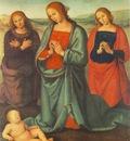 perugino pietro madonna with saints adoring the child