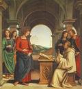 perugino pietro the vision of st  bernard