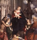 PORDENONE Madonna And Child Enthroned With Saints