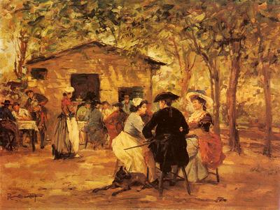 Sorbi Raffaello An Outdoor Cafe