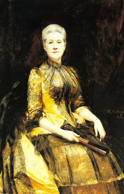 Madrazo y Garreta Raimundo De A Portrait Of Mrs James Leigh Coleman
