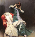 Garreta Raimundo De Madrazo Y Preparing For The Costume Ball