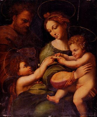 Raphael Holy Famliy With Saint John The baptist