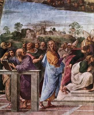 Raphael La Disputa detail2