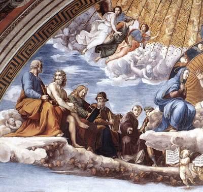 Raphael La Disputa detail9