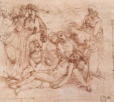 Raphael Lamentation over the Dead Christ