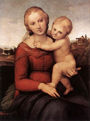 Raphael Madonna and Child The Small Cowper Madonna