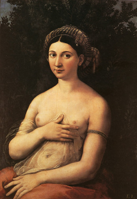 Raphael Portrait of a Nude Woman Fornarina c1518