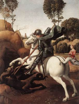 Raphael St George and the Dragon